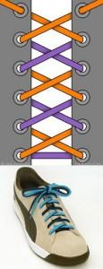 Шнуровка двумя шнурками