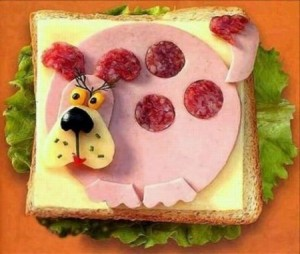 Оформление бутербродов фото