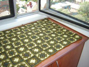 Вязание квадратных ковриков крючком