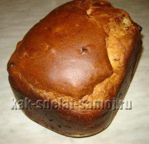 Пасхальный кулич в хлебопечке рецепт приготовления