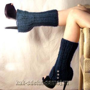 Вязаные гетры на обувь