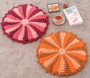 Вязание круглых ковриков крючком