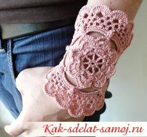 Вязанный браслет своими руками