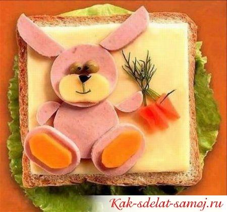 Детские бутерброды с фотографиями