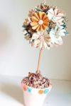 Схема цветов из бумаги: оригами