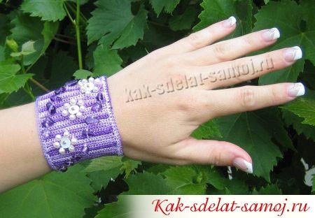 Вязаный браслет: как сделать