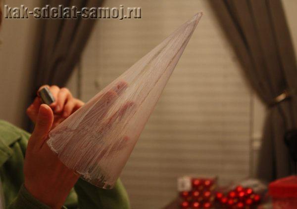 Часть 24.  Шары на новогоднюю елку из папье-маше.  Вязанный сервиз. http://kak-sdelat-samoj.ru.