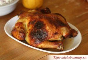Курица в меду, запеченная в духовке