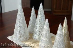 Украшение новогодних елок: фото