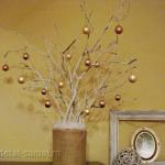 Новогодняя композиция «Белое дерево»