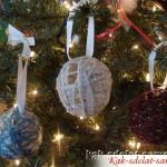 Как украсить елку самодельными шарами