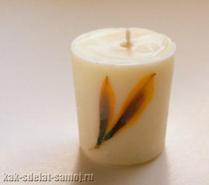 Как сделать свечу своими руками с фото