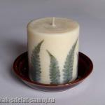 Как сделать красивую свечу