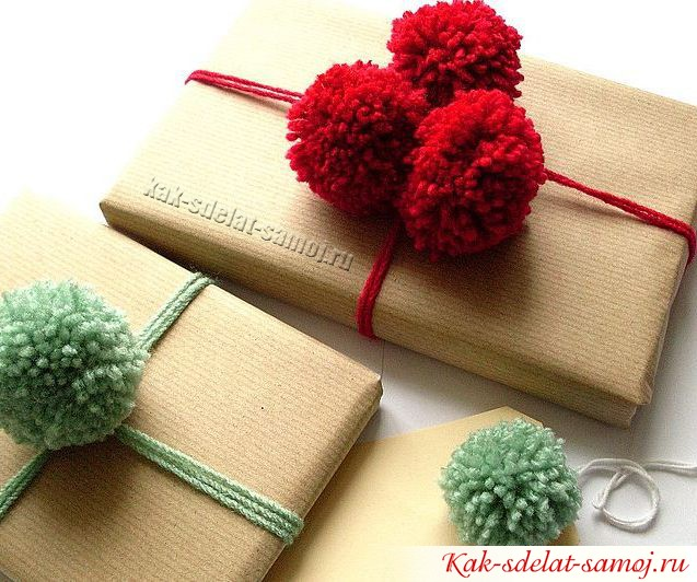 Упаковка для новогодних подарков: фото