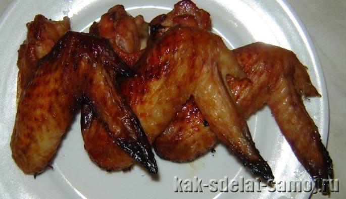 Куриные крылышки в соево-медовом соусе: фото рецепт