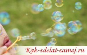 Как сделать мыльные пузыри большими