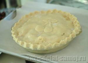 Вишневый пирог из песочного теста