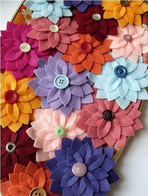 Как сделать из цветы из фетра своими руками 78
