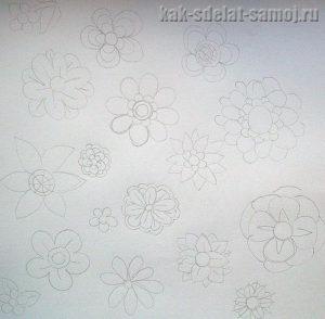Как сделать цветы из фетра: фото