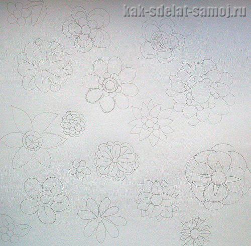 Цветы из ткани выкройки своими руками