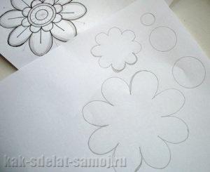 Цветы из фетра: как сделать выкройку