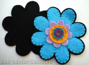 Цветок из фетра: выкройка
