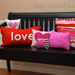 Как сделать подушку в подарок на День Святого Вали