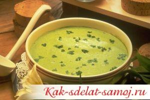 Суп-пюре из брокколи, рецепт