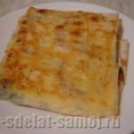 Горячая закуска из лаваша: фото-рецепт