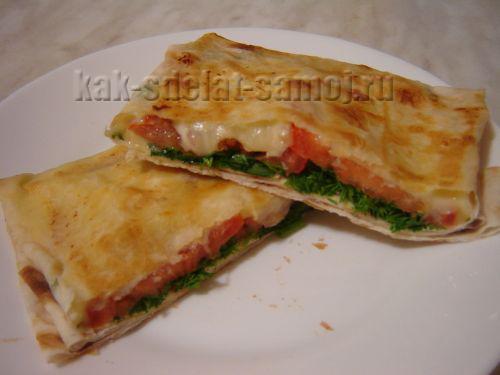 Горячие закуски из лаваша, фото рецепт