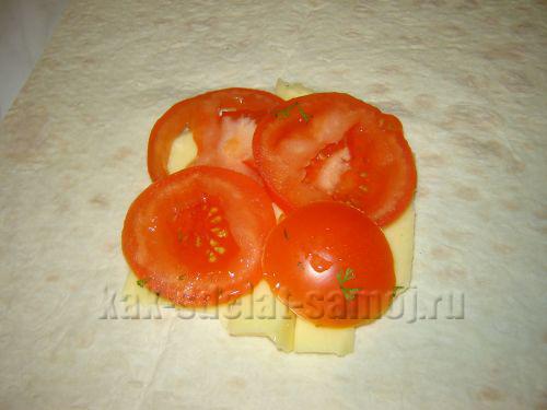 Горячая закуска из лаваша, фото