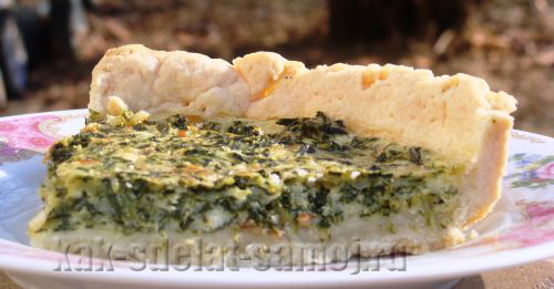 Пирог со шпинатом и сыром брынза, фото