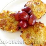 Рецепт: Творожные сырники с вишнёвым соусом