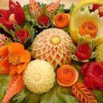 Карвинг из овощей и фруктов: видео