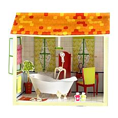 Как сделать домик для кукол из бумаги
