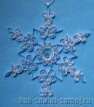 Квиллинг снежинка (бумаговерчение)
