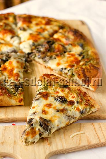 Приготовить пиццу в домашних условиях