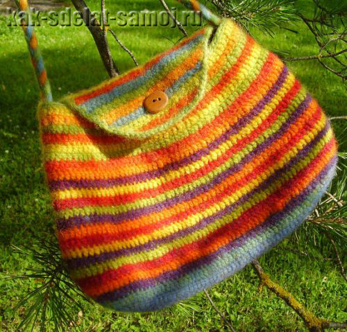 Летняя вязаная сумка, фото
