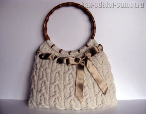 Красивая вязаная сумка, фото.