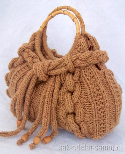 Зимняя вязаная сумка, фото