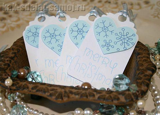 Новогодние скрап-открытки своими руками