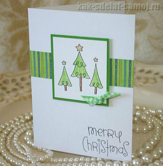 Новогодние открытки своими руками, фото