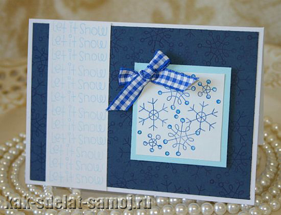 Новогодние открытки своими руками, картинки