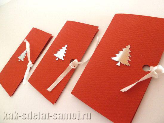 Новогодние открытки своими руками (елочка)