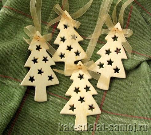 Деревянные новогодние игрушки своими руками