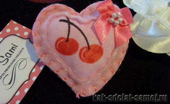 Как сделать сердце из фетра