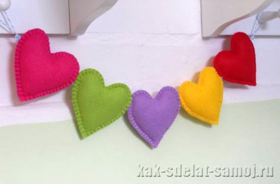 Сердце из фетра, фото