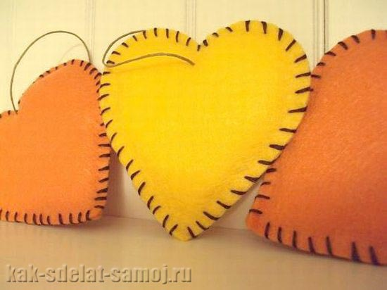 Сердце из фетра