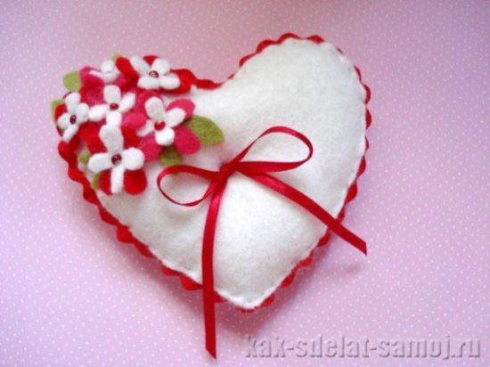 Фетровое сердце, фото