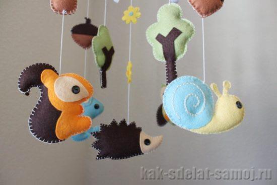 Игрушки из фетра для новорожденных своими руками выкройки